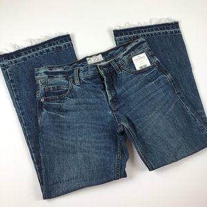 Free People Jeans - NWT Free People Jacob crop flare raw hem 26
